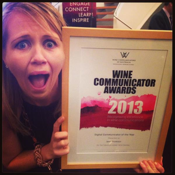 We won! Digital Wine Communicator of the Year 2013