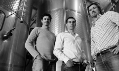 From left to right - Drew Tuckwell (winemaker), David Swift and Ed Swift