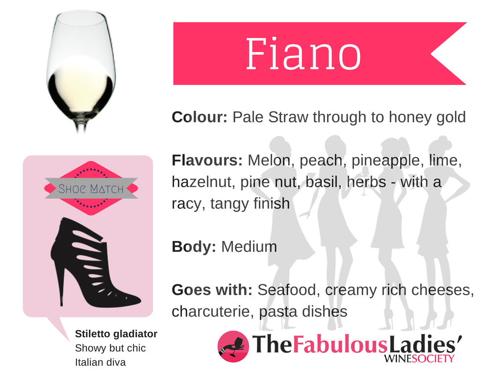 Fiano white wine variety - all about Fiano