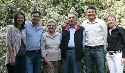 The Crossing family from Angullong Vineyard
